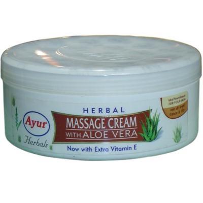 ayur herbal massage cream with aloevera 200ml | ayur