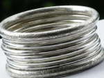 Silver Carved Bangles